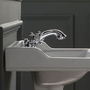 Healey & Lord Classic Collection Deck-Mounted Monobloc Basin Mixer Tap with Pop-Up Basin Waste